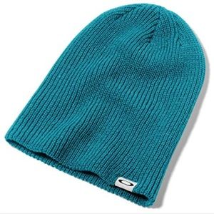TWO Oakley Beanies in Teal & Olive, NWT